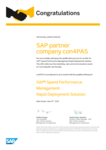 RDS certificate for SAP SPM